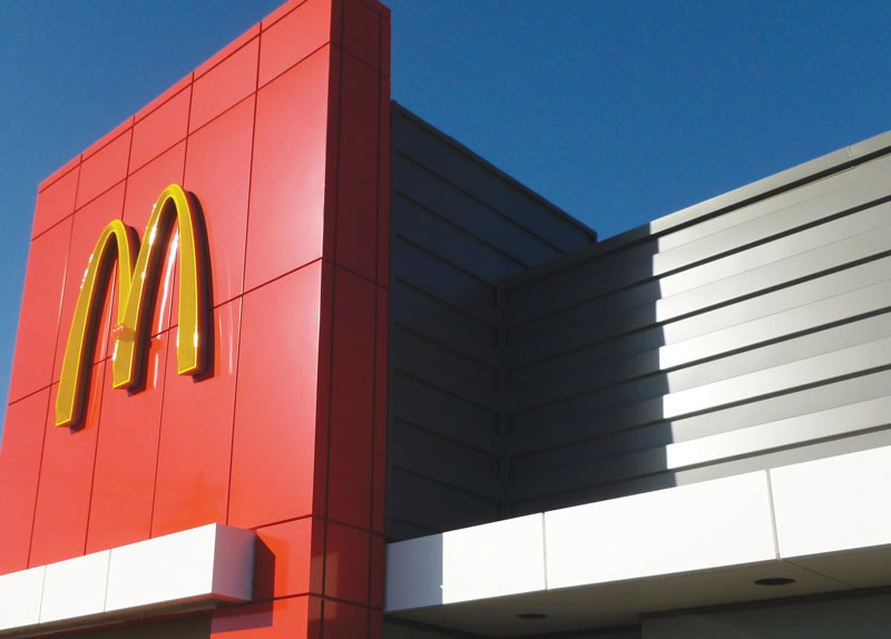 McDonalds placat cu Alucobond